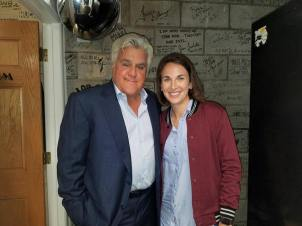 Kaycee with Jay Leno backstage at The Comedy & Magic Club